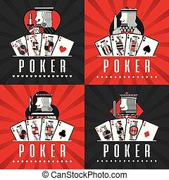 set of poker cards casino