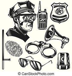 Set of police elements