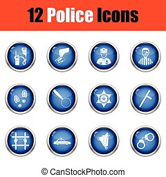 Set of police icons.