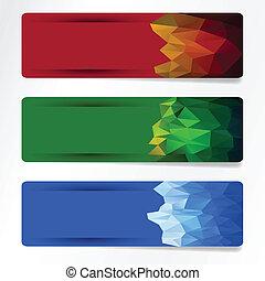 set of polygonal banner