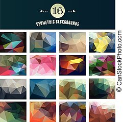 Set of Polygonal Geometric abstract, elements