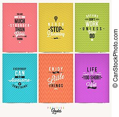 Set of Positive Quote