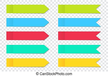 Set of post note stickers arrow with shadow