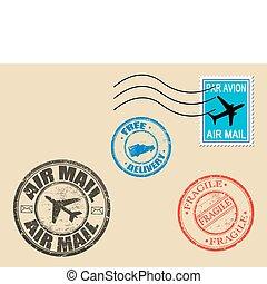 postage symbols - Set of postage symbols, vector ...