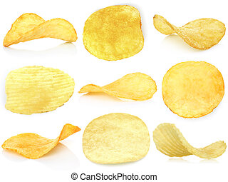 Set of potato chips