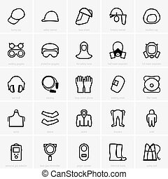 PPE icons - Set of PPE icons