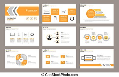 Set of presentation template. Use in annual report, ...
