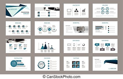 Set of presentation template.Use in annual report,...
