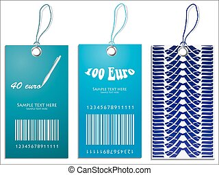 Set of Price tags