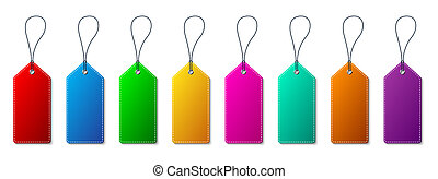 Set of Price Tags. Vector illustration