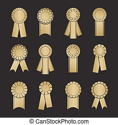 Set of prize ribbons