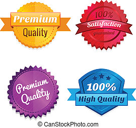 Set of product offer emblems - Set of premium quality and...