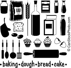 Set of products for baking