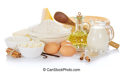 Set of products for the baking