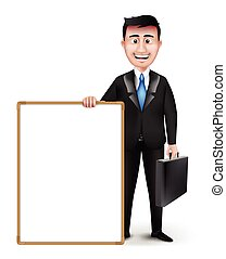 Set of Professional Man Characters - Realistic Smart...