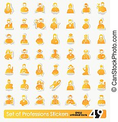 Set of professions stickers