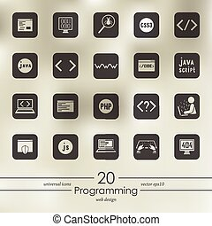 Set of programming icons