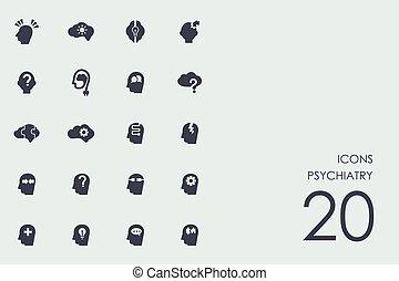 Set of psychiatry icons - psychiatry vector set of modern...
