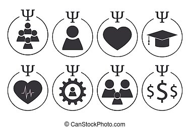 Set of psychology symbols