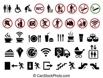 Set of public icons. Vector illustration.