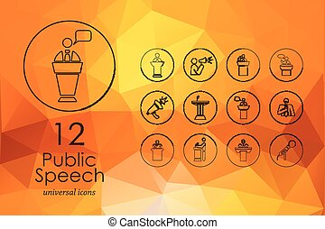 Set of public speech icons
