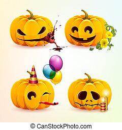Set of pumpkins