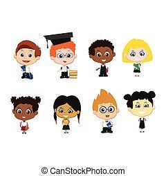 Set of pupils