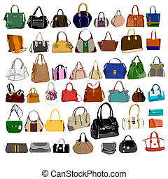 Set of purses and bags