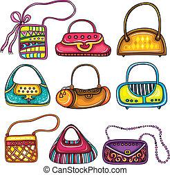 Set of purses - A set of beautifully designed colorful...