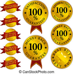 Set of Quality Seals - Different Signs