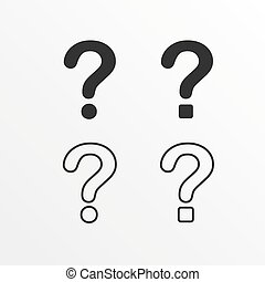 Set of question mark icon.