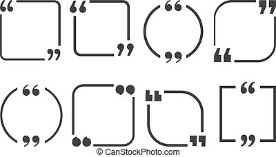 Set of quote frames on a white background. Vector...