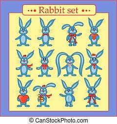 set of rabbits in vector