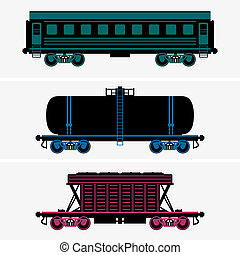 Railroad cars - Set of Railroad cars