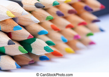 Set of rainbow pencils
