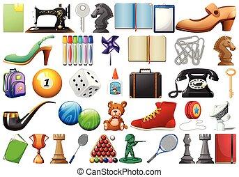 Set of random objects