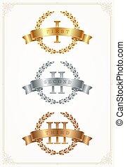 Set of rank emblems