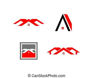 Set of Real estate Logo Template