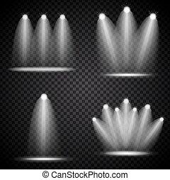 Vector realistic 3d black spotlights or hang ceiling lamp