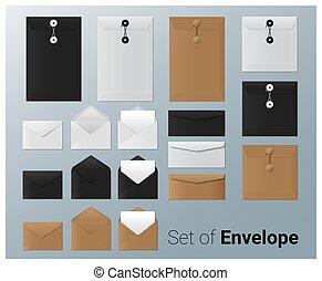 Set of realistic envelope