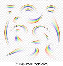 Set of realistic rainbows