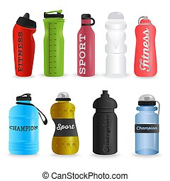 0bcb49cd8e Plastic water bottles realistic set. Plastic water bottles realistic ...
