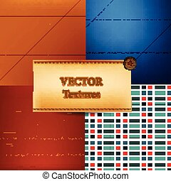 Vector set of textures for design
