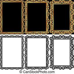 rectangular frames - set of rectangular frames - isolated...