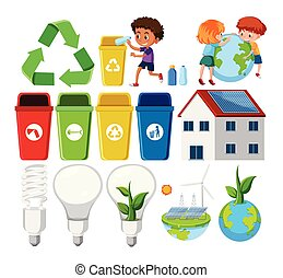Set of recycle element