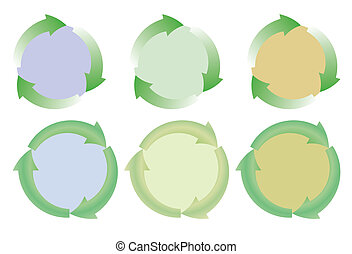 set of recycle icons