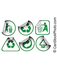 Set of recycle labels