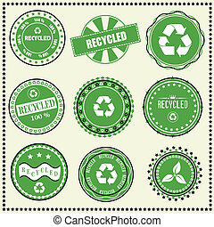 set of Recycled labels