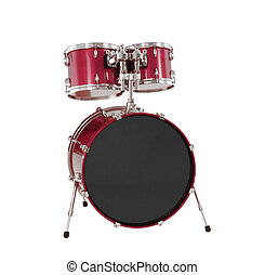 Set of Red drums isolated