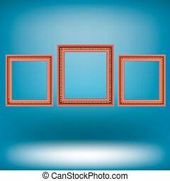 Set of Red Frames